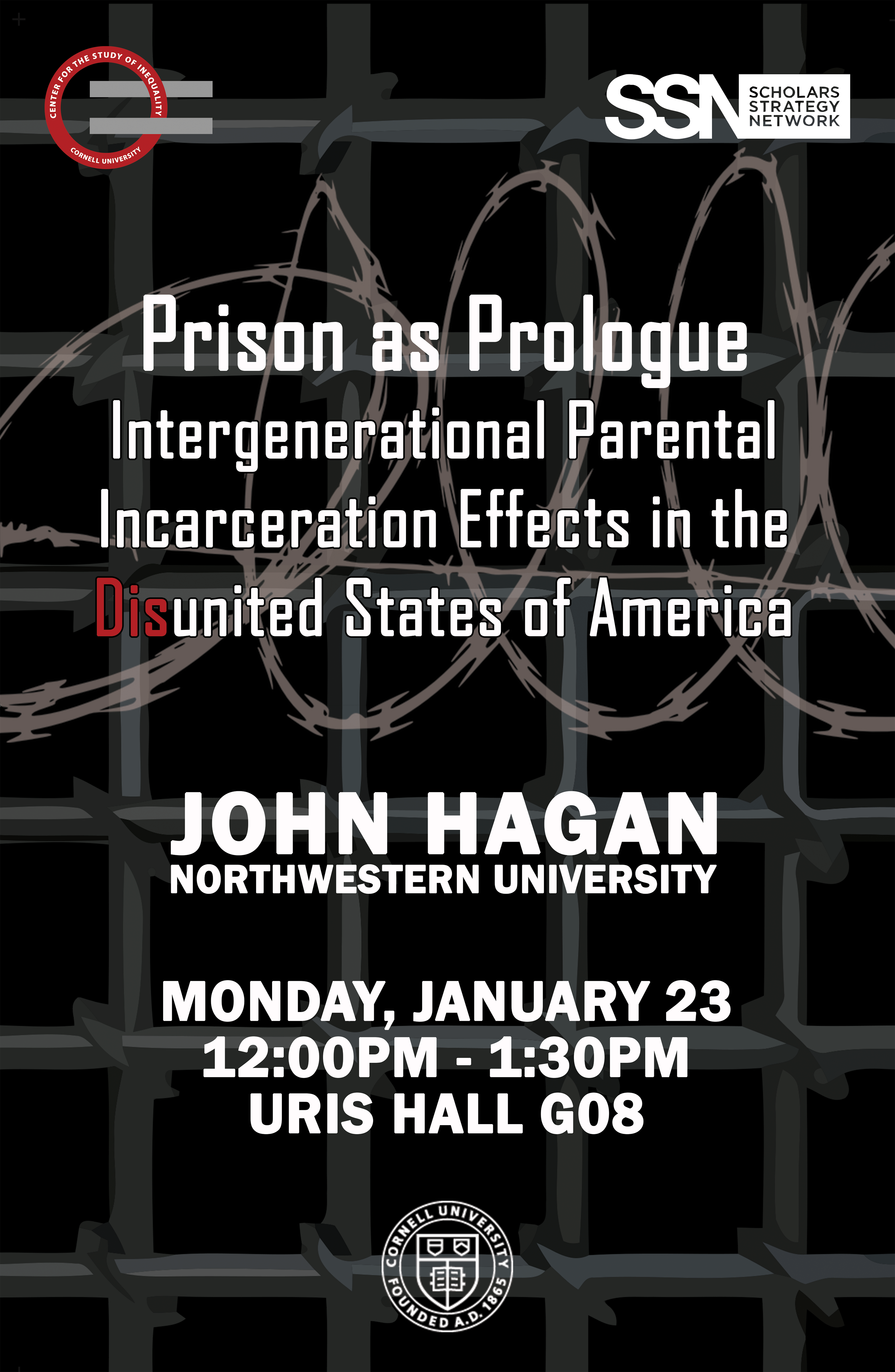 Prison as Prologue: Intergenerational Parental Incarceration Effects in the Disunited States of America