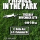 Ultimate frisbee in the Park