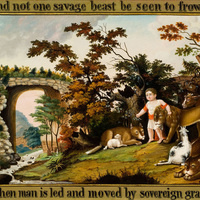 """Object of the Month: """"Peaceable Kingdom of the Branch"""""""