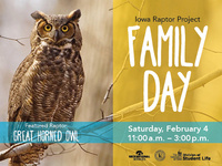 February Family Day at Iowa Raptor Project