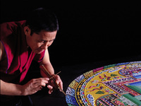 Mandala Sand Painting:The Architecture of Enlightenment