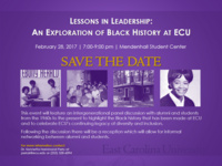 Lessons in Leadership:  An Exploration of Black History at East Carolina University