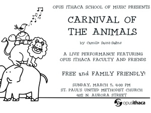 Opus Ithaca presents the Carnival of the Animals