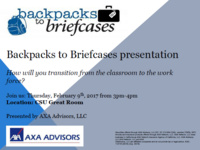 AXA Advisors - Backpacks to Briefcases