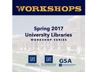 Spring 2017 University Libraries Workshop Series:  Zotero: A Free Reference Management Tool