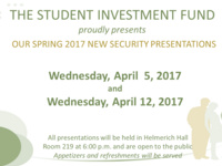 Student Investment Fund Securities Presentations