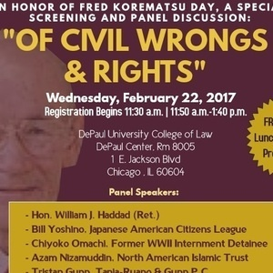 "Special Screening ""Of Civil Wrongs & Rights"" and Panel Discussion"