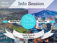 Study Abroad Info Session: South Korea & South Africa