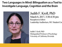 CANCELED: Two Languages in Mind: Bilingualism as a Tool to Investigate Language, Cognition and the Brain