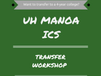 UH Manoa ICS Transfer Workshop