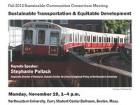 Fall 2012 Sustainable Communities Consortium Meeting: Sustainable Transportation & Equitable Development