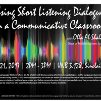 Language Matters: Using Short Listening Dialogues in a Communicative Classroom