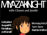 Miyazaki Night with Chasen and Janelle!