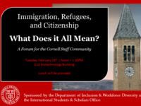 Immigration, Refugees & Citizenship: What Does It All Mean? A Forum for the Cornell Staff Community