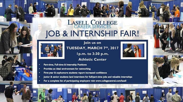 Spring Job and Internship Fair at Athletic Center