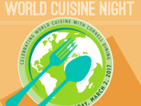 Visit all ten dining rooms on World Cuisine Night!