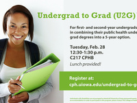 College of Public Health Undergrad to Grad (U2G) Info Session