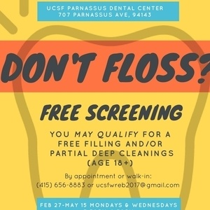 UCSF Dental Free Screenings (X-rays Included)