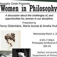 "Philosophy Circle - ""Women in Philosophy"" Presented by Fanny Soderback and Maria Acosta"