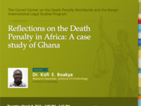 Reflections on the death penalty in Africa: A case study of Ghana