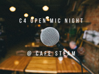 C4 Open Mic Night At Cafe Steam