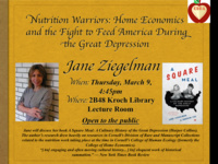 Nutrition Warriors: Home Economics and the Fight to Feed America During the Great Depression