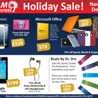 RAM Computers Holiday Sale