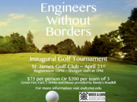 Engineers Without Borders Inaugural Golf Tournament