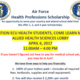 Air Force  Health Professions Scholarship - Info Table
