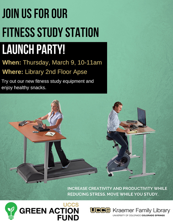 Library Fitness Study Station Launch Party