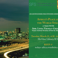 Africa's Place on the World Stage - A Talk With Amb. Linda Thomas-Greenfield
