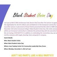 Black Student Union Day