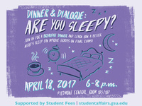 Are You Sleepy? Dinner and Dialogue