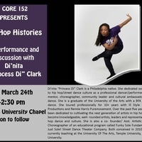 Hip Hop Histories Presents:  A Lecture/Demonstration with Di'nita Clark - Reception to Follow