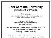 Physics Colloquium on March 24th-Professor Rob Hayes
