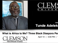 What is Africa to ? Three Black Diaspora Perspectives