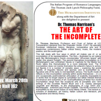 """The Art of the Incomplete"" with Dr. Thomas Harris, UCLA"