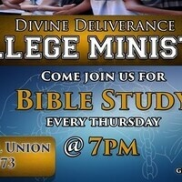 Divine Deliverance College Ministry- Bible Study