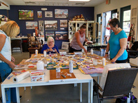 Fun workshop with Watercolor collage