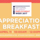 National Student Employment Week Appreciation Breakfast
