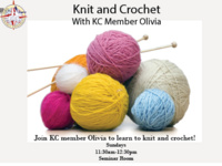 Knit and Crochet with KC Member Olivia!