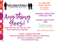 "Modern Coachella Valley men's Chorus presents ""Anything Goes"""