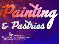 Painting & Pastries in the International Center