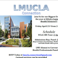 LMUCLA Connection Health Professions and Admissions Panels