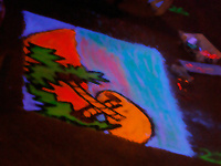 Blacklight Chalk on Panels