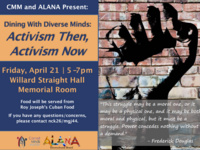 "Dining with Diverse Minds: ""Activism Then, Activism Now"""