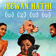 "Jeewan Hathi (""The Elephant in the Room"") with actress Samiya Mumtaz and director Farjad Nabi"