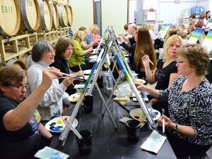 Treleaven's Sip 'n Paint Mother's Day Party