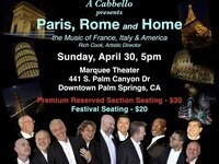 Paris, Rome and Home: An International Night of Music from A Cabbello
