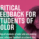 Critical Feedback for Students of Color